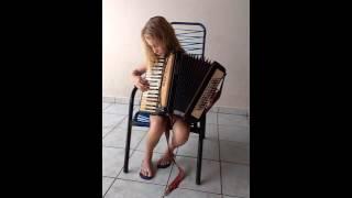 Criança  toca acordeon (safona).