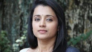 trisha hot cleavage show in saree