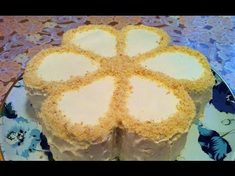 Торт сметанный рецепт со сгущенным молоком