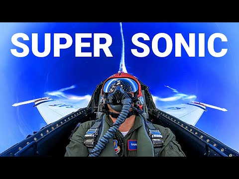 GOING SUPERSONIC with U.S. Air Force Thunderbirds Pulling 7 G s in an F 16 Smarter Every Day 235