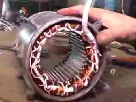 Оправка обмотки лобовой части электродвигателя