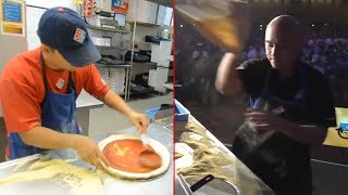World's Fastest Pizza Makers Compilation