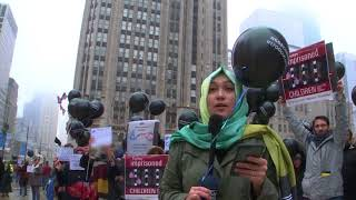 Set them free, 668 babies in jail in Turkey, Chicago Protest