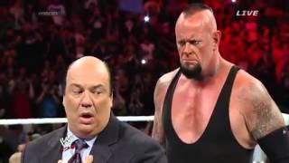 WWE main event 18 march 2014 Undertaker almost kills Paul Heyman