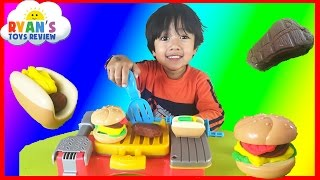 Play Doh Cookout Creations Playdough make Hotdogs Hamburgers Chicken with Play-doh