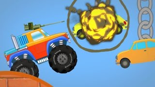 monster truck fights back | armed trucks | games for kids