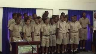 St. Vincent Grammar School boys singing