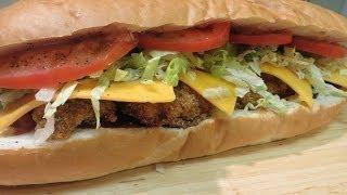 Po' Boy - Fried Oyster Po'Boy Sandwich - New Orleans Fried Oyster Po' Boy
