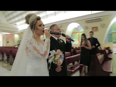 Aleluia cantada pela noiva e seu pai! (Hallelujah)