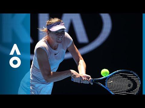 Tatjana Maria v Maria Sharapova match highlights (1R)   Australian Open 2018
