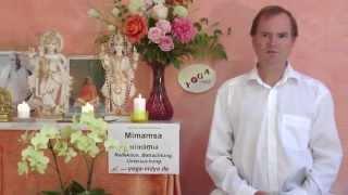 Mimamsa - Reflektion - Betrachtung - Sanskrit Wörterbuch