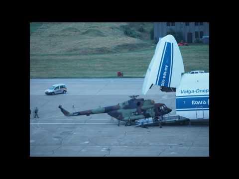 Istovar novih helikoptera Mi-17 za Vojsku Srbije na Aerodromu