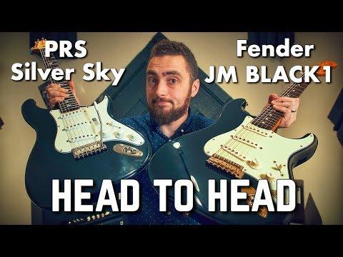 PRS Silver Sky vs Fender Black1 John Mayer Signature || Head To Head Demo By Rhett Shull