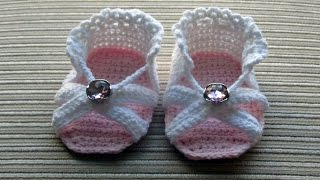 Crochet Baby Sandals For Girls ᴴᴰ █▬█ █ ▀█▀