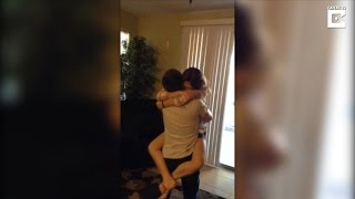 Brother Returning From Military Surprises Sister He Hasn't Seen in 3 Years