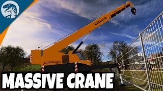 GIANT CRANE AT CONSTRUCTION SITE | Rappack Farms #45 | Farming Simulator 17 Multiplayer Gameplay