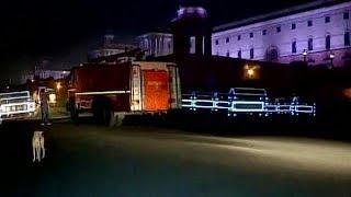 प्रधानमंत्री नरेंद्र मोदी के कार्यालय में लगी आग, दमकल की 10 गाड़ियों ने पाया काबू