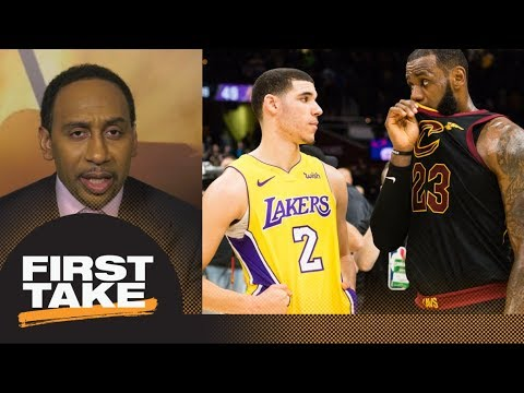 Stephen A. speculates what LeBron James told Lonzo Ball after Lakers Cavaliers First Take ESPN