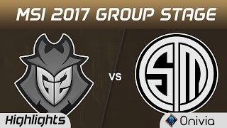 G2 vs TSM Highlights MSI 2017 Group Stage G2 Esports vs Team Solo Mid by Onivia