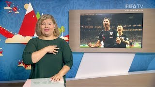 FIFA WC 2018 - CRO vs. ENG – for Deaf and Hard of Hearing - International Sign