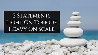 2 Statements Light On Tongue Heavy On Scale   Mufti Menk