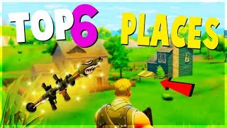 TOP 6 BEST Safe Places to Land for EASY WINS and LOOT (Fortnite Battle Royale) | Tips and Tricks