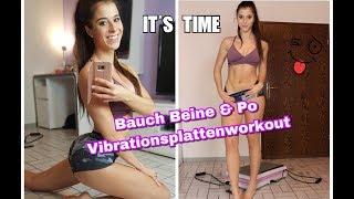 Bauch Beine Po - Das BESTE Vibrationsplattenworkout für einen KNACKPO und tolle ABS!