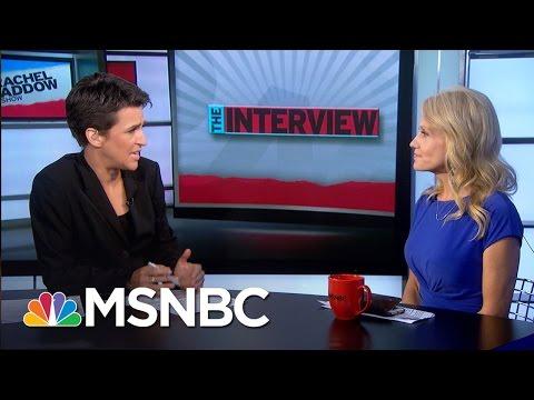 Clarifying Mixed Message On Donald Trump Muslim Ban Rachel Maddow MSNBC