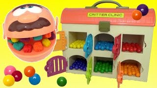 Play-doh Doctor Drill n Fill Rotten Teeth Learn Colors Gumballs Candy Color Change Surprises TUYC