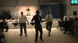 Surprise dance at wedding reception