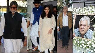 Aishwarya-Abhishek, Amitabh-Naseeruddin attend Om Puri's prayer meet