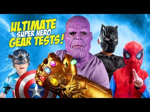 THANOS Spider Man & The Avengers Ultimate Super Hero Gear Test & Toys Review for Kids