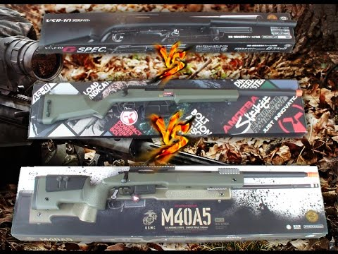 VSR G-SPEC MARUI vs STRIKER AMOEBA S1 vs M40A5 MARUI / PROVA DI TIRO - SHOOTING TEST