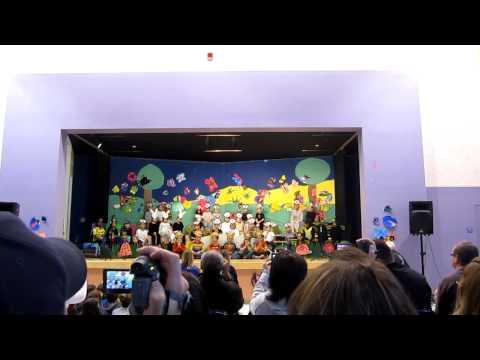 Kindergarten school play part 1   3-12-10.MOV