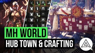 Monster Hunter World | Hub Town Gameplay, Armor & Weapon Crafting & New Training Room