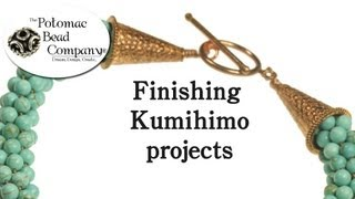 Instructions - Finishing Kumihimo Projects