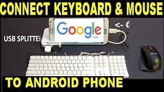 how to connect keyboard & mouse to android phone or tablet (in hindi)