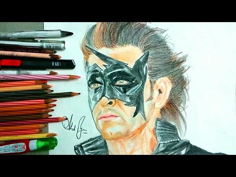 Xxx Mp4 Drawing Super Hero Krish Or Hrithik Roshan How To Draw Krish Hrithik Roshan CelebPortrait9 3gp Sex