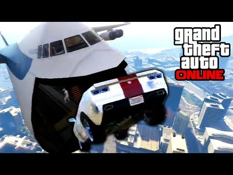 GTA 5 Online Sick Cargo Plane Stunts & BUSTED