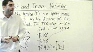 Algebra 2 - Direct and Inverse Variation