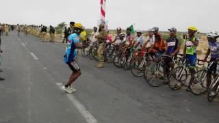 Sheikh Ghulam Akbar Gwadar bicycle at the Race