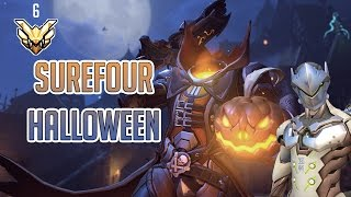 Surefour - Surefour Rank 6 on Halloween Hollywood (Genji, Reaper) - Overwatch Highlights #44