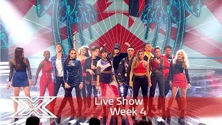 The Contestants open the show with DNCE | Results Show | The X Factor 2016