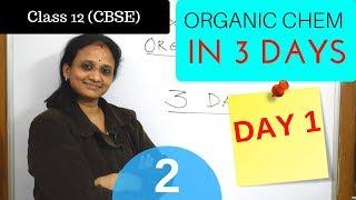 Organic Chemistry in 3 days | Day 1| part 2| cbse grade 12 chemistry|
