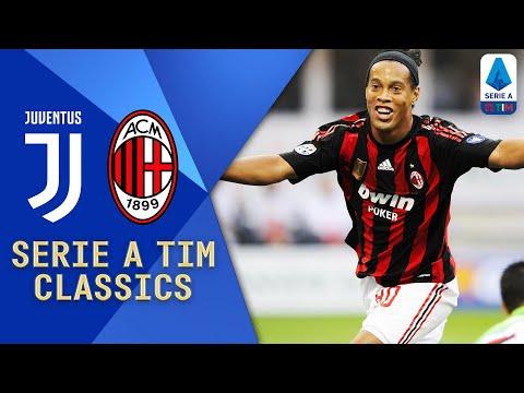 Ronaldinho Pirlo Nedved & Del Piero Juventus v Milan 2008 Serie A TIM Classics Serie A TIM