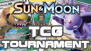 Pokemon Sun and Moon TRADING CARD GAME TOURNAMENT! with GameboyLuke, ScottishBrah, and m1ss beryl