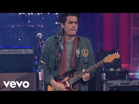 John Mayer - Slow Dancing In A Burning Room (Live on Letterman)