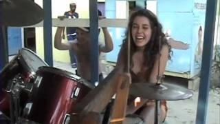 """Teenage Drummer Girl plays Reggae 1st Time"""","""