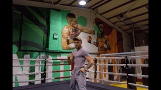 Conor McGregor's first reaction to Mayweather mural at his new gym