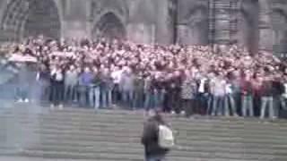 Kölner Mob vor Dom 24.10.08